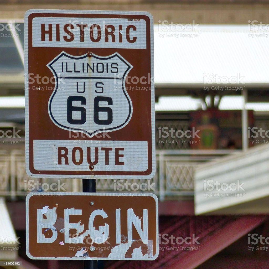 Chicago- Route 66, voie publique, route, légende stock photo