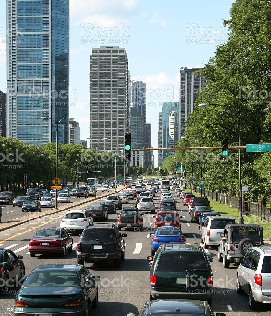 Chicago rush hour royalty-free stock photo