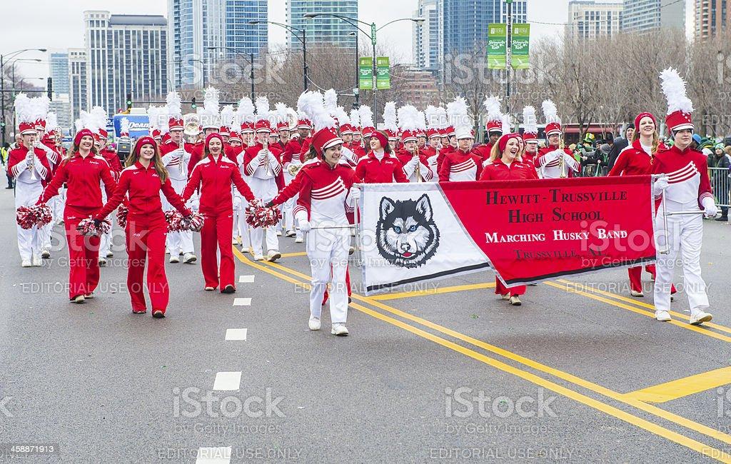 シカゴ聖パトリックのパレード ロイヤリティフリーストックフォト