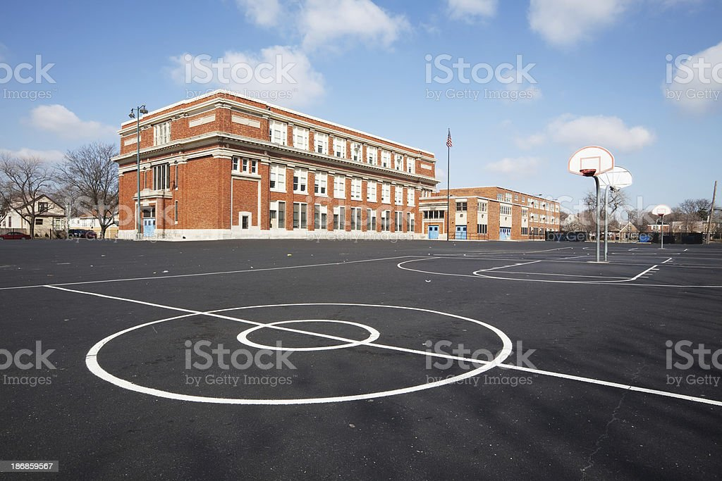 Chicago School Yard stock photo