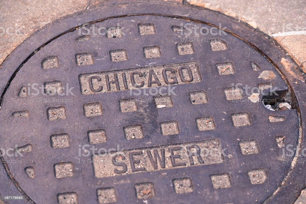 Chicago Sewer royalty-free stock photo