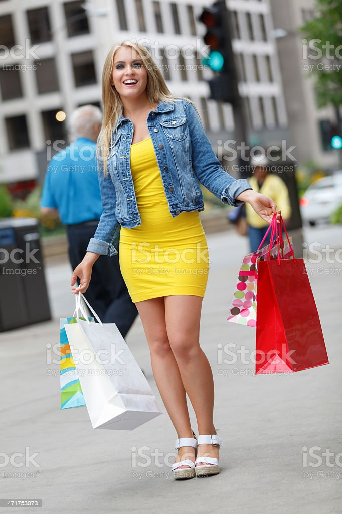 Chicago Shopper royalty-free stock photo