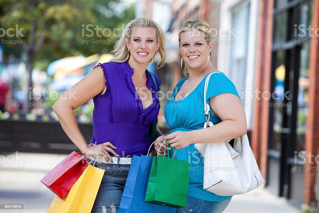 Chicago Shoppers royalty-free stock photo