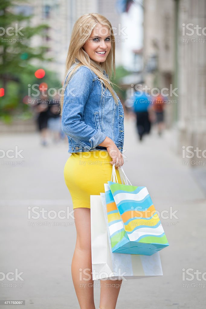 Chicago Shopping royalty-free stock photo