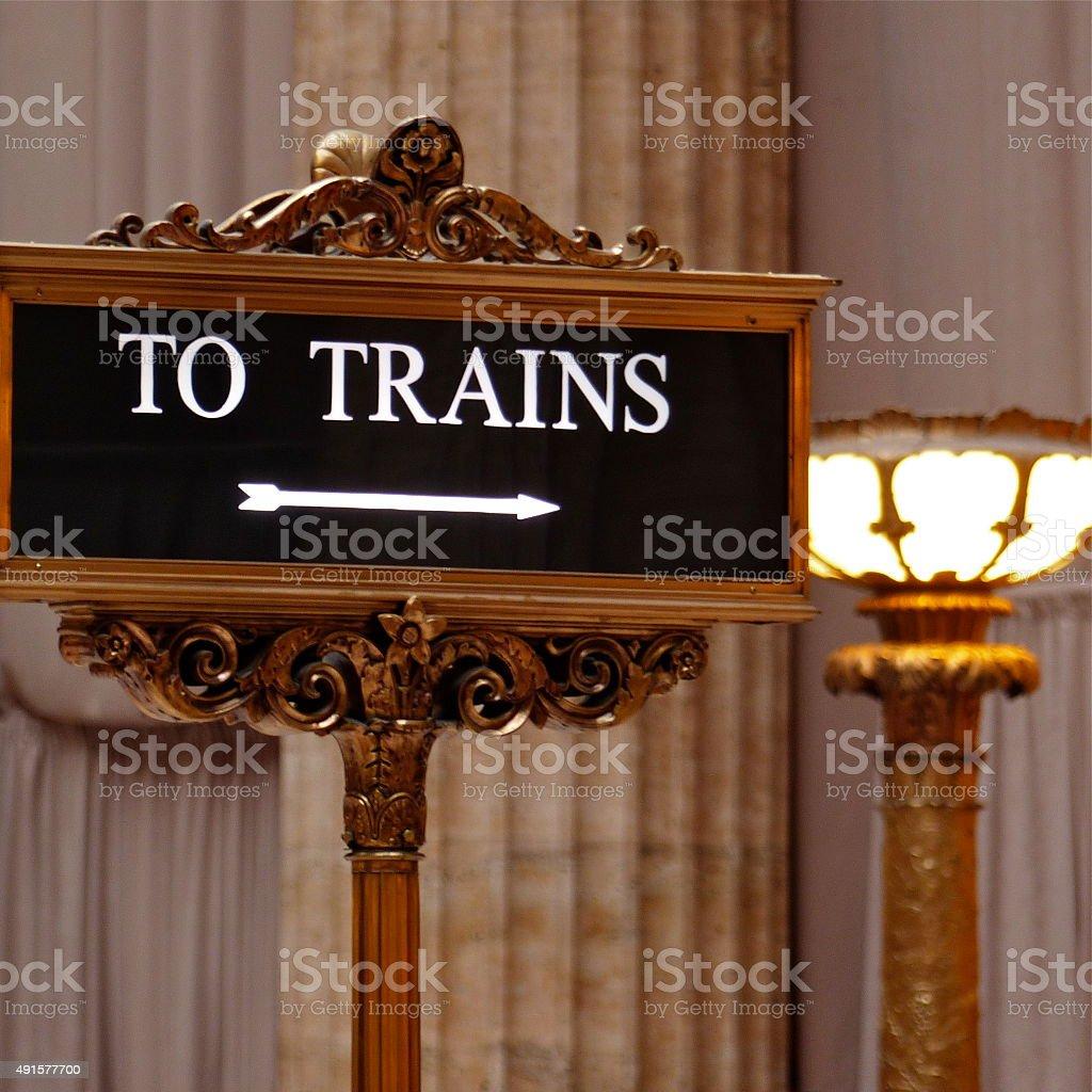 Chicago - Signalitique, panneau, trains, Union station stock photo