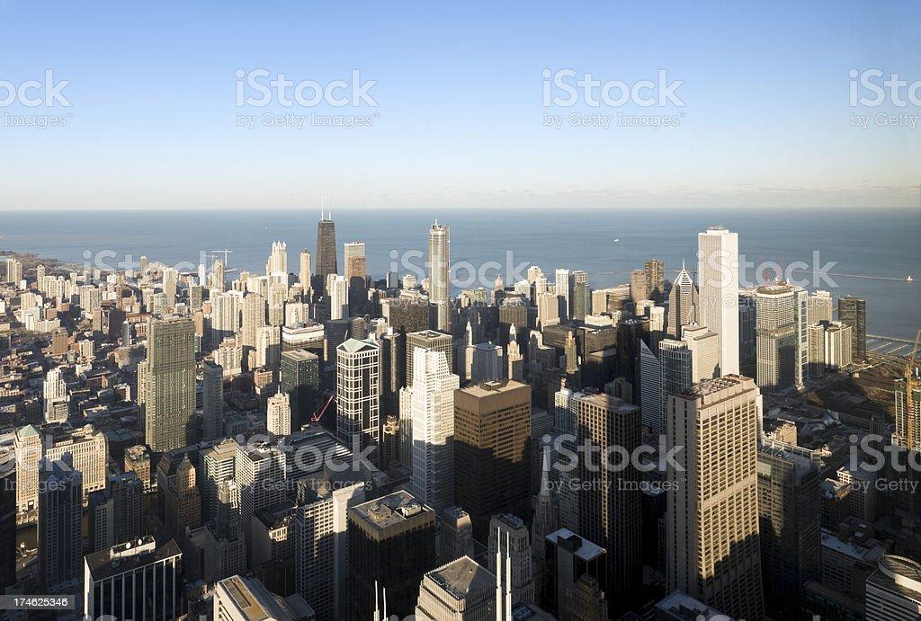 Chicago Skyline Aerial (XXL) stock photo