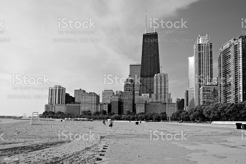 Chicago Skyline along the Gold Coast stock photo