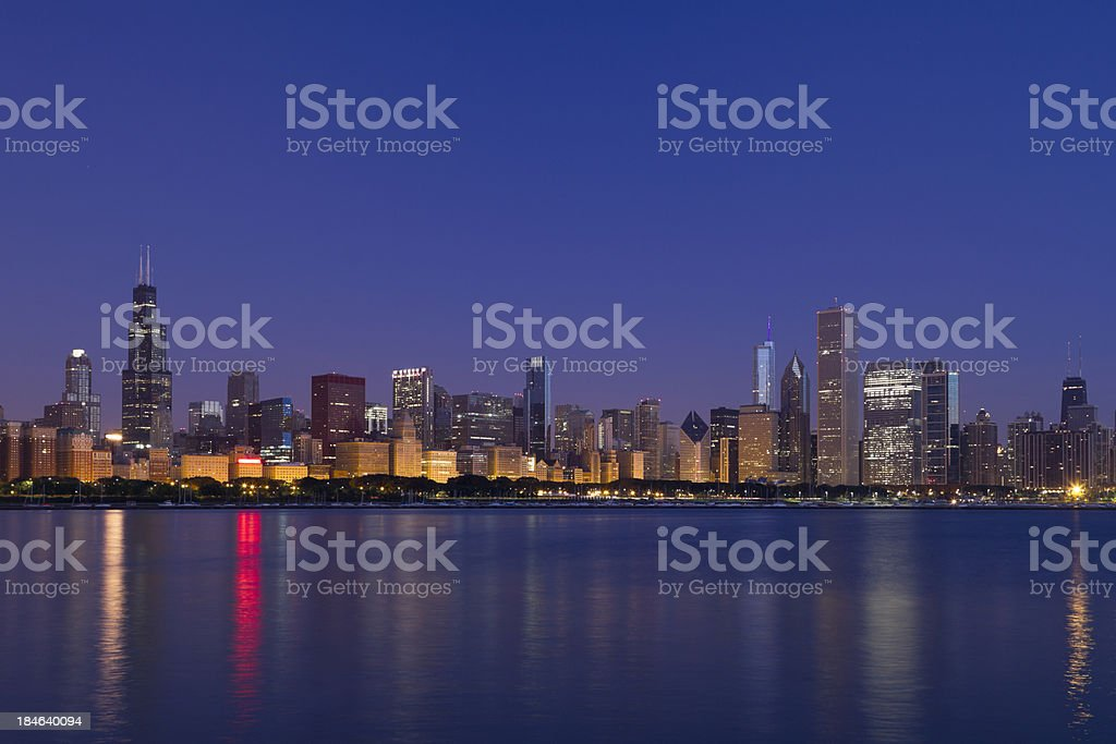 Chicago Skyline at Dawn stock photo