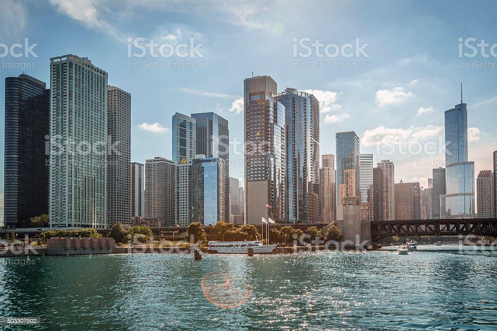 Chicago skyline, Illinois stock photo