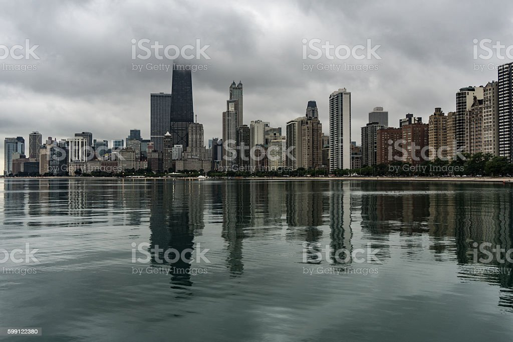 Chicago Skyline in the morning stock photo