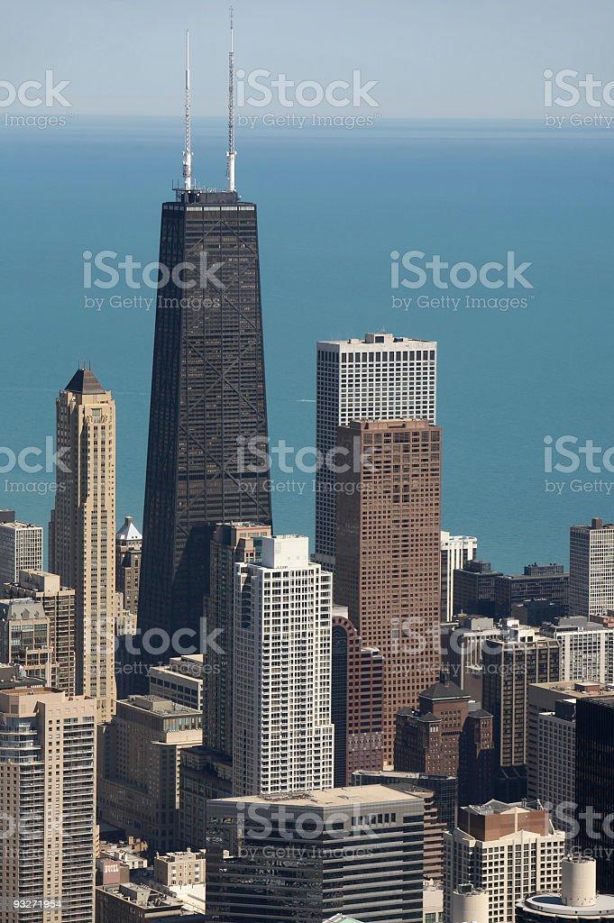 Chicago Skyline & John Hancock royalty-free stock photo