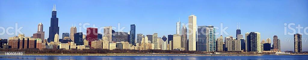 Chicago skyline panorama royalty-free stock photo
