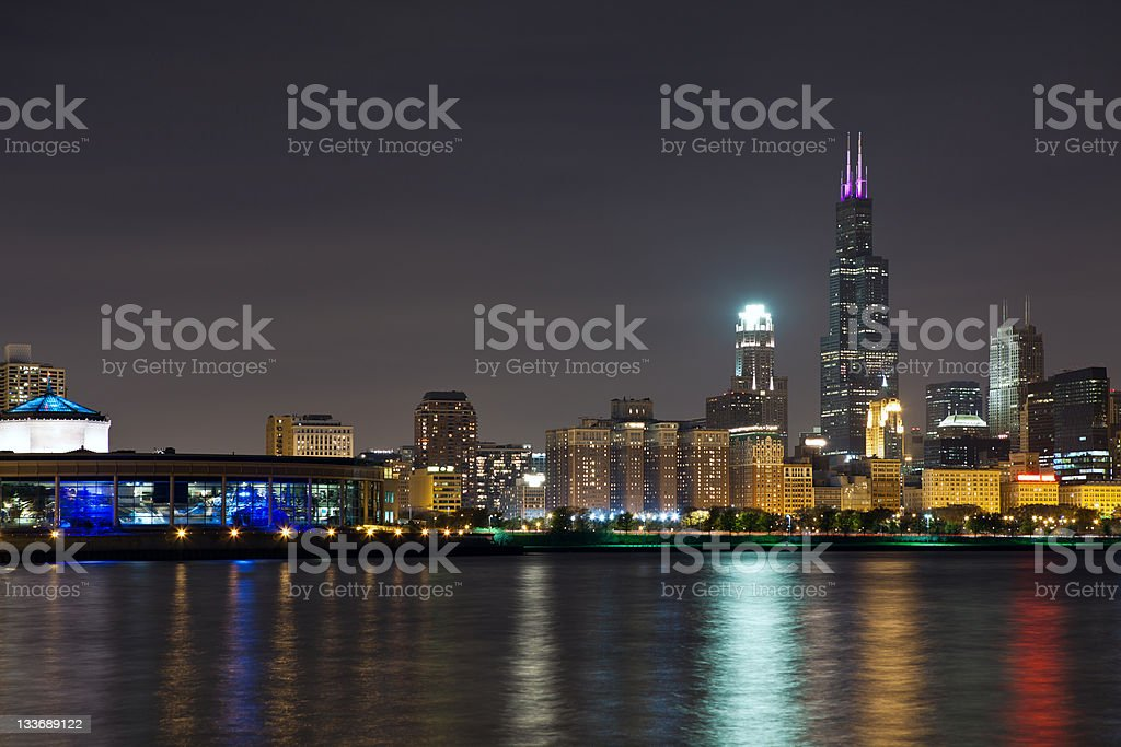 Chicago skyline. stock photo