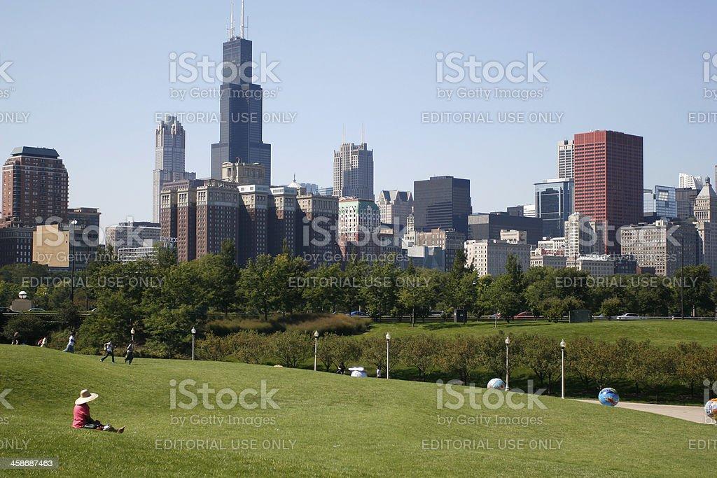 Chicago Skyline stock photo