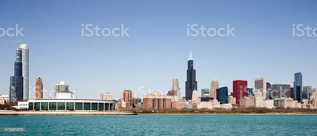 Chicago Skyline - seen from Lake Michigan stock photo