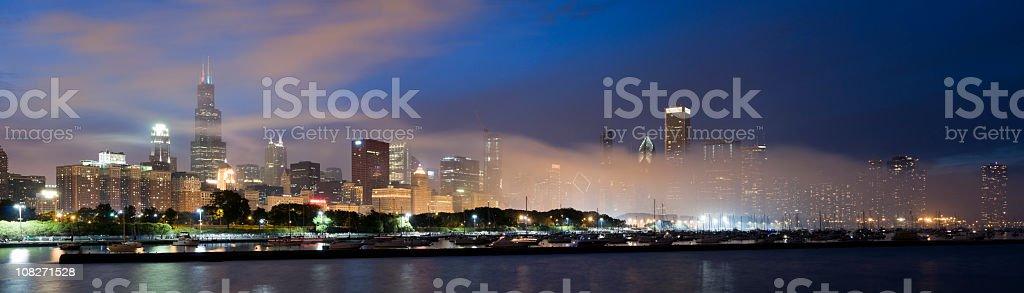Chicago Skyline Shrouded in Smoke (XXXL) stock photo