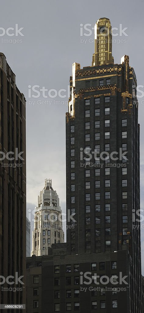 Chicago Skyline, Stormy Evening royalty-free stock photo