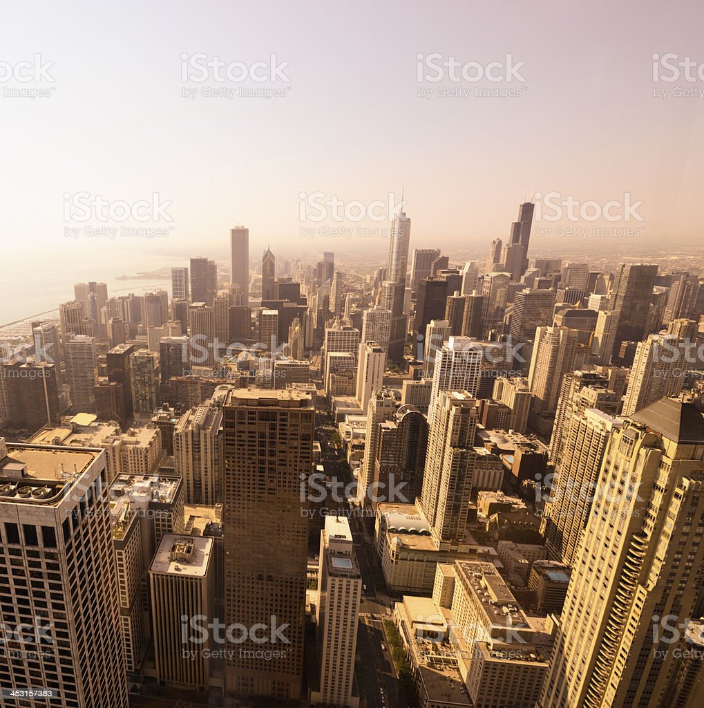 Chicago Skyline,Aerial View. royalty-free stock photo