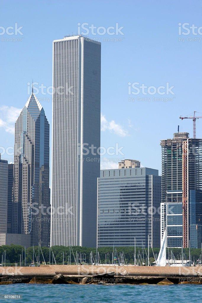 Chicago Skyscraper Construction stock photo