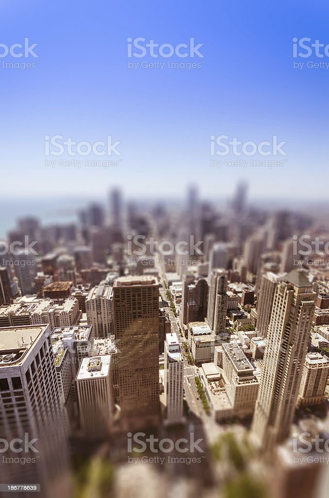 chicago skyscraper on the downtown stock photo