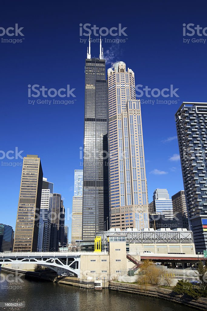 Chicago skyscrapers royalty-free stock photo