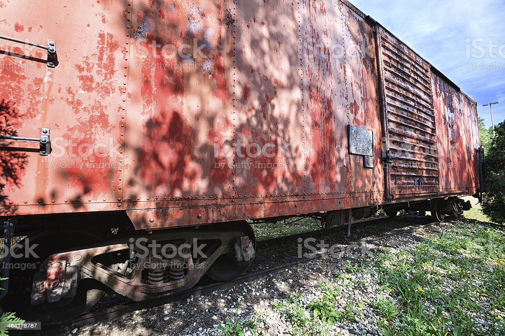 Chicago State University Railroad Freight Car stock photo