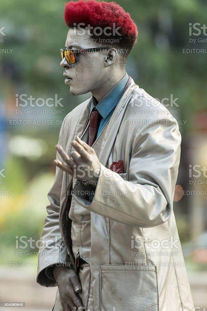 Chicago Street Performer stock photo