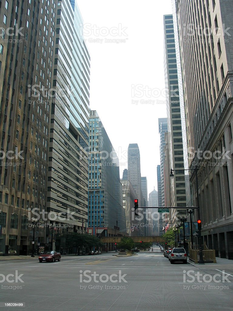 Chicago streets stock photo