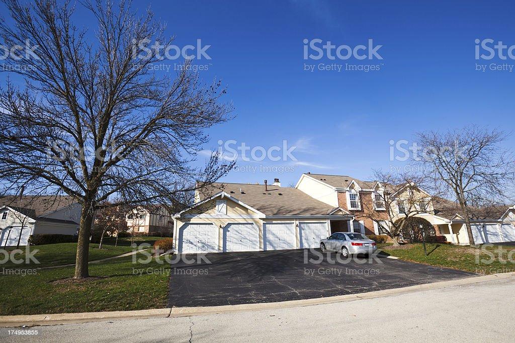 Chicago suburban townhomes royalty-free stock photo