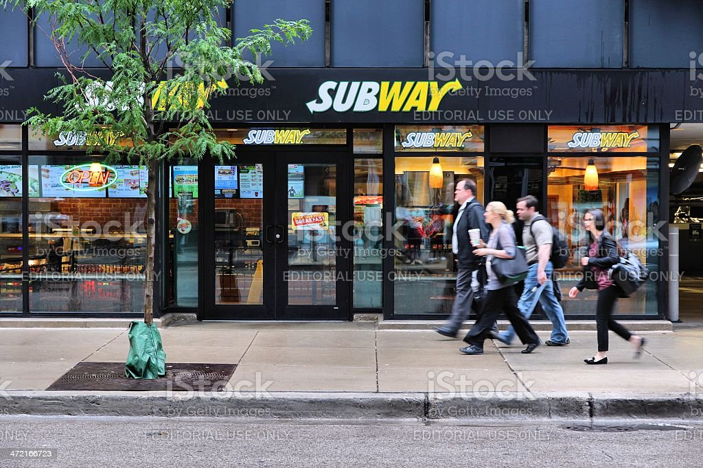 Chicago Subway store stock photo