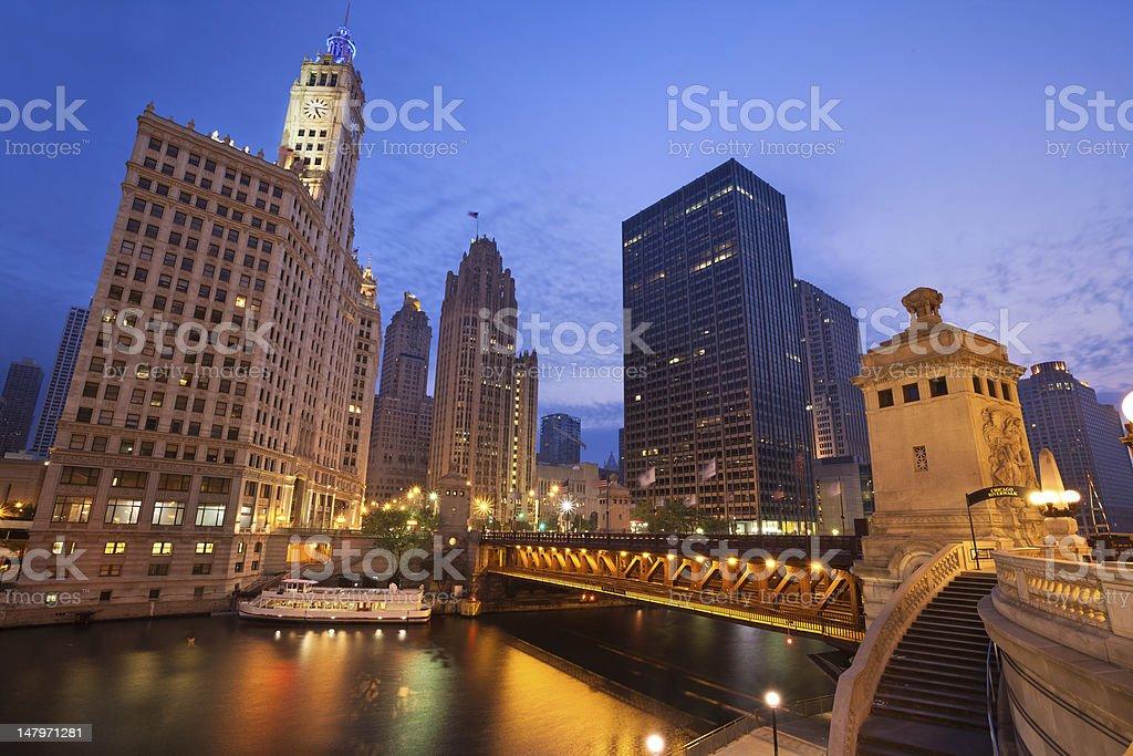 Chicago Sunrise. stock photo