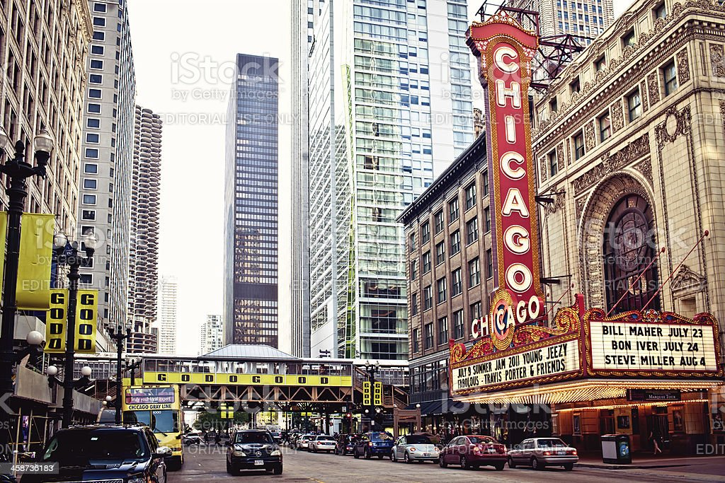 Chicago Theater on State Street stock photo