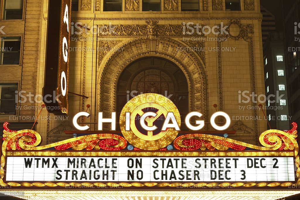 Chicago theater. stock photo