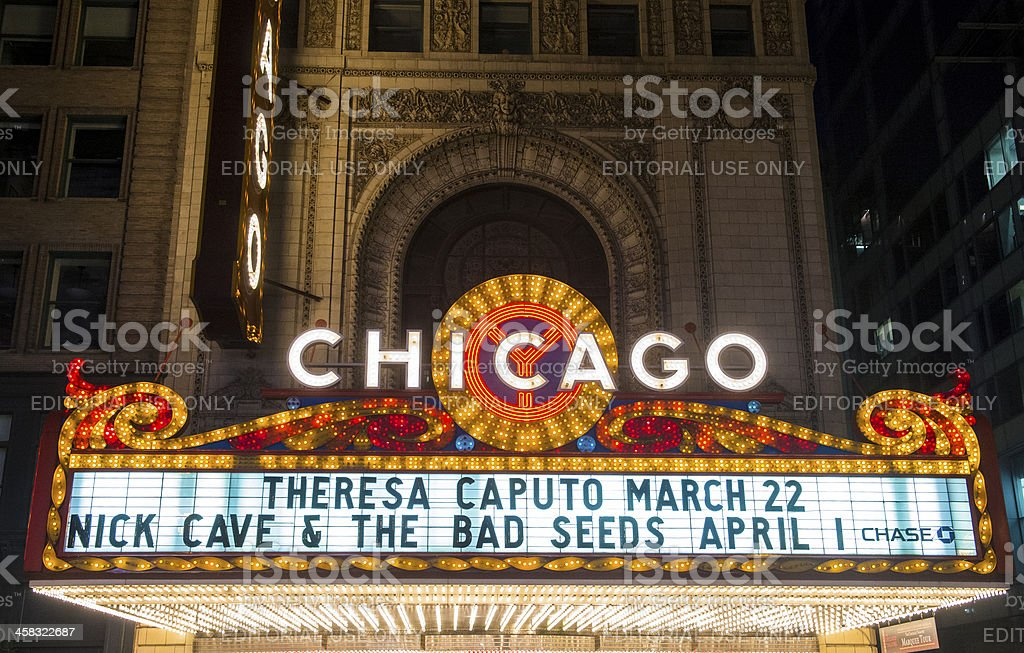 Chicago Theater royalty-free stock photo