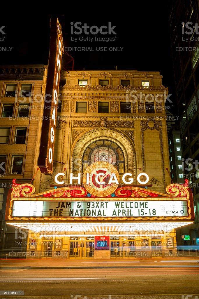 Chicago Theather stock photo
