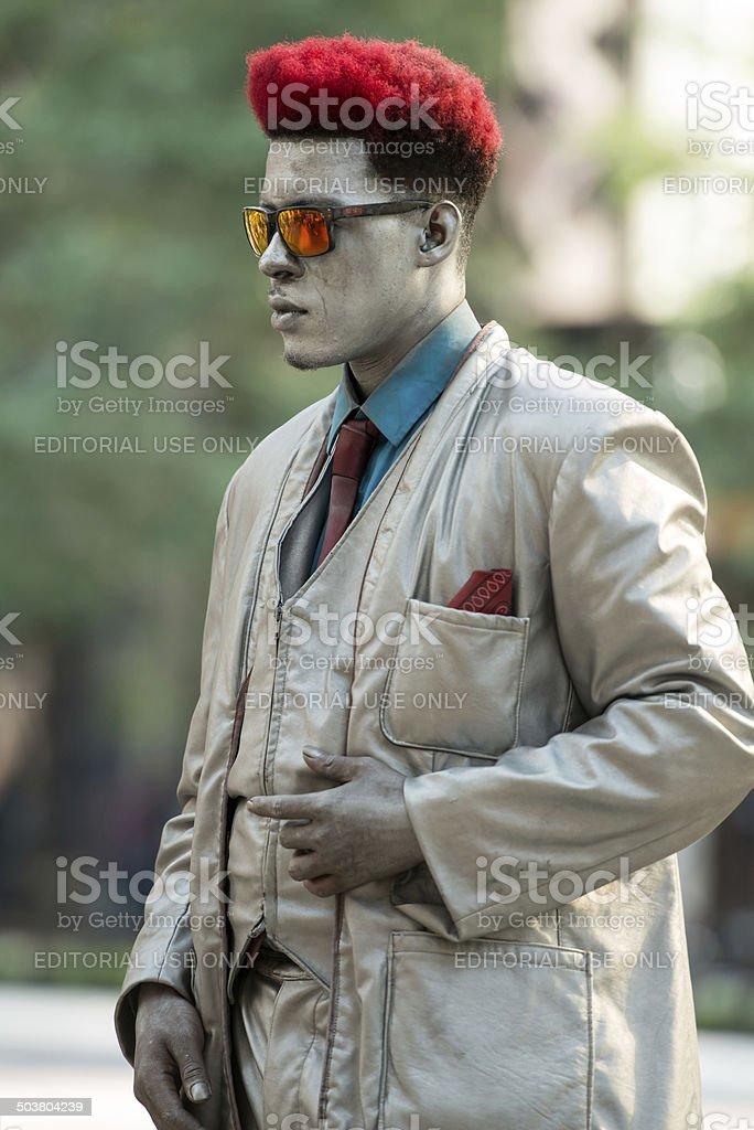 Chicago Tin Man stock photo