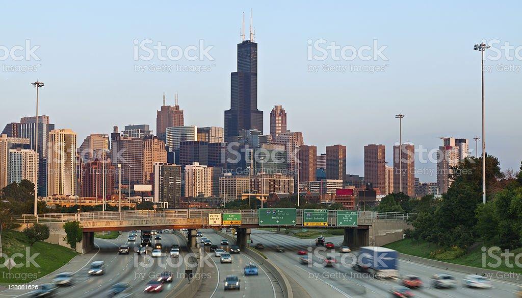 Chicago traffic. stock photo