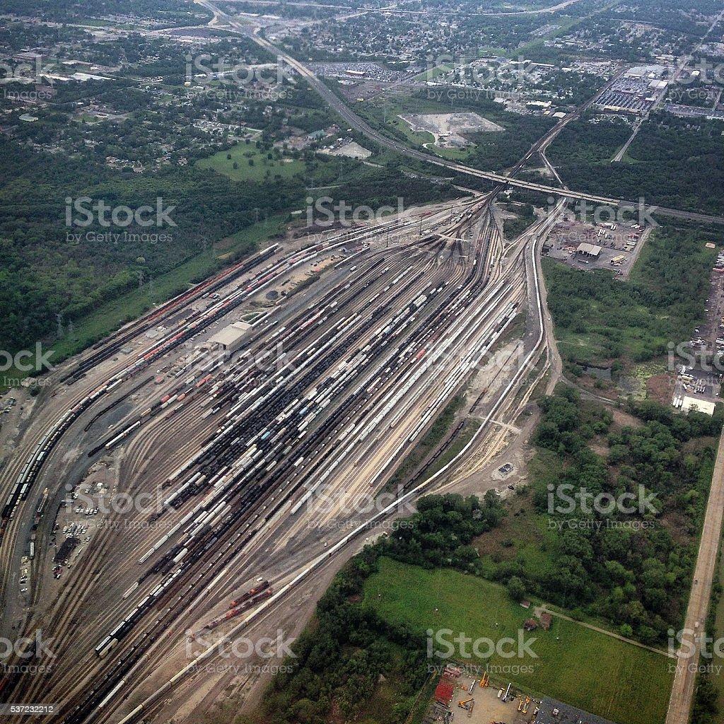 Chicago Train Yard stock photo