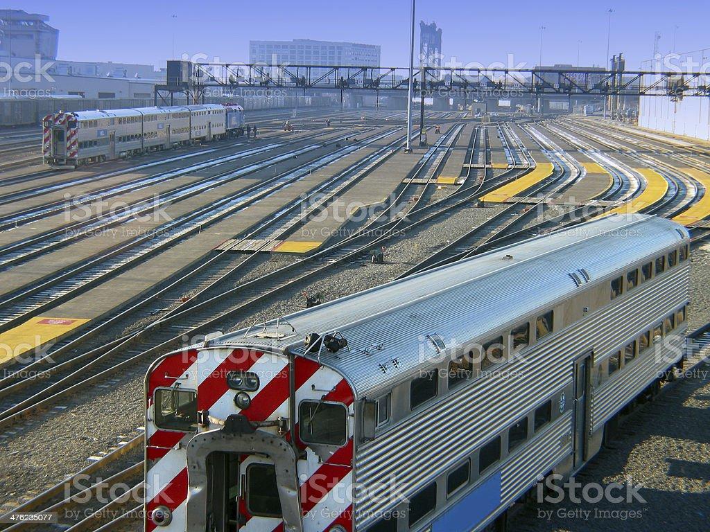 Chicago Trainyard stock photo