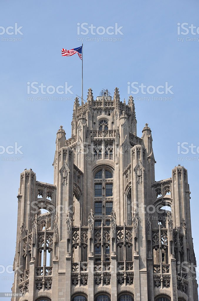 Chicago Tribune Tower Top royalty-free stock photo