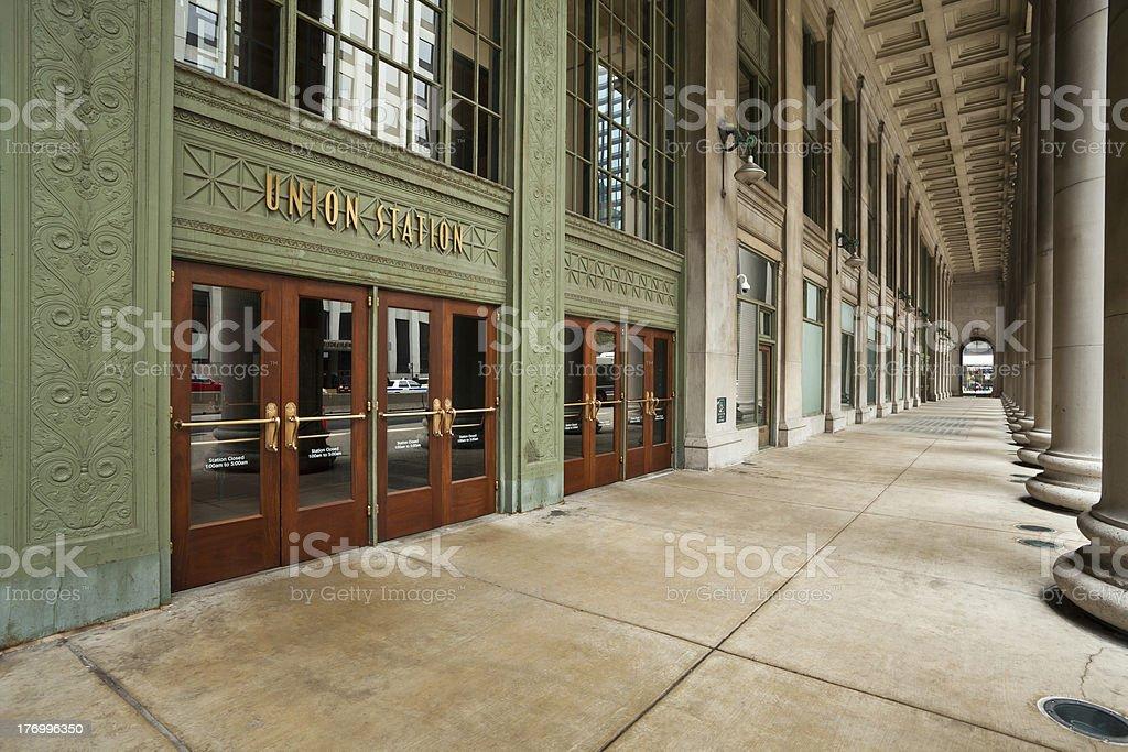 Chicago Union Station Entrance. stock photo