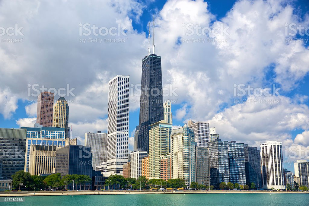 Chicago urban skyline stock photo