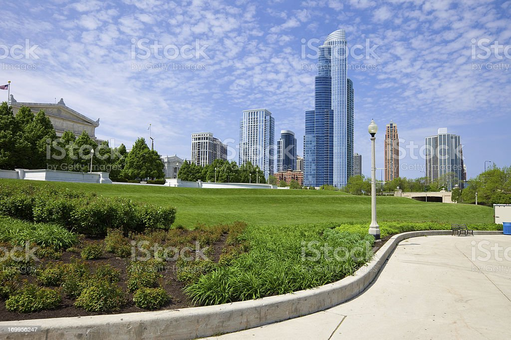 Chicago USA Lakefront Trail Grant Park royalty-free stock photo