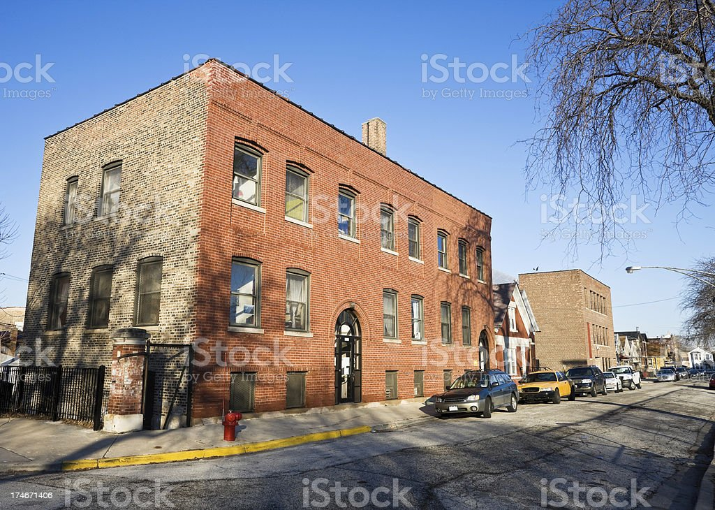 Chicago Victorian Office Building stock photo