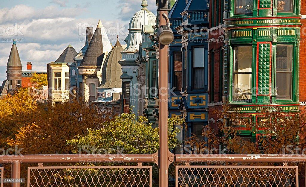Chicago Victorians stock photo