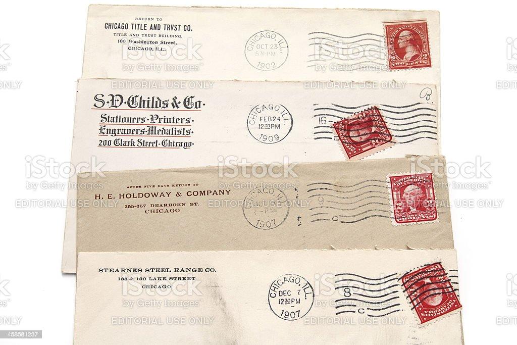 Chicago Vintage Business Correspondence stock photo