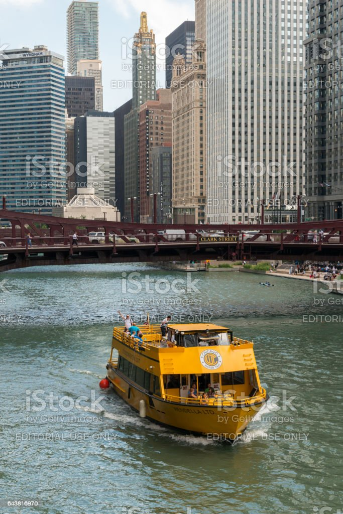 Chicago Water Taxi stock photo