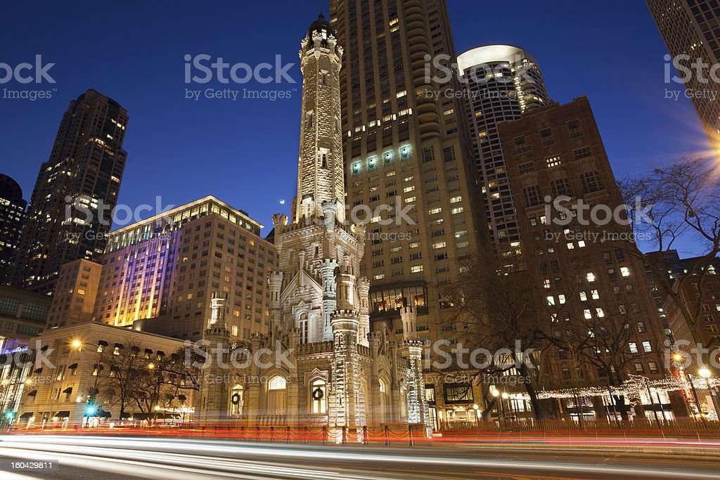 Chicago Water Tower stock photo