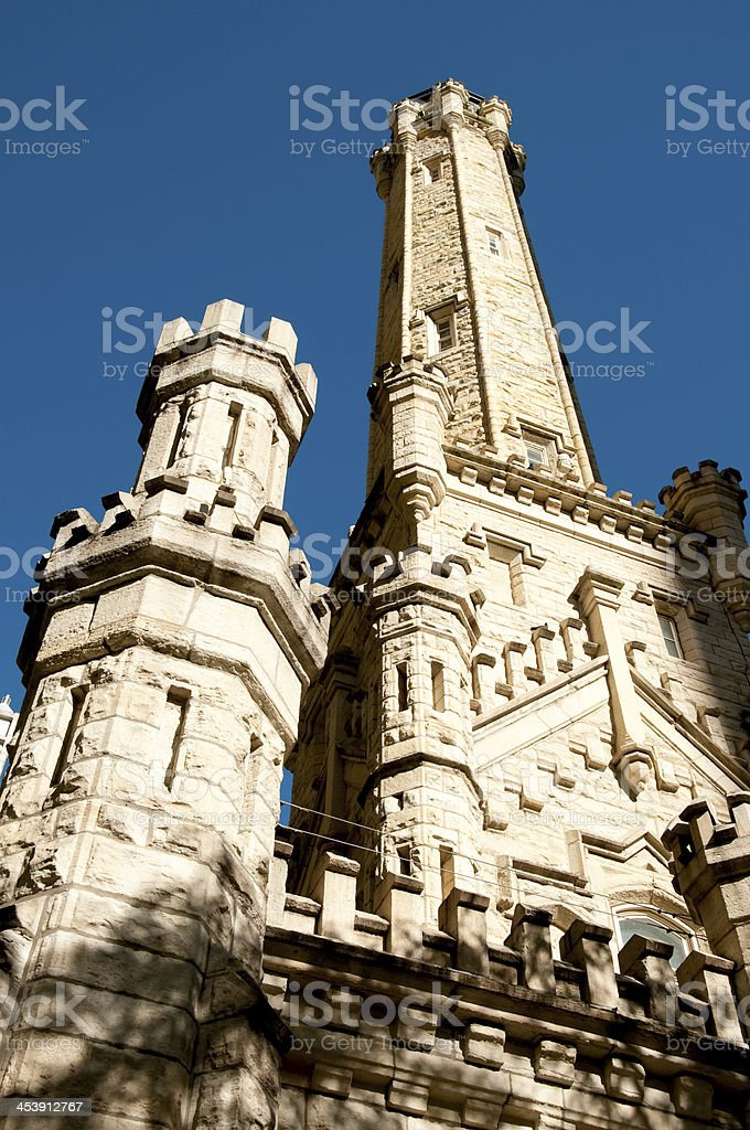 Chicago water tower royalty-free stock photo