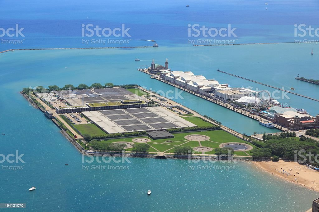 Chicago water treatment stock photo